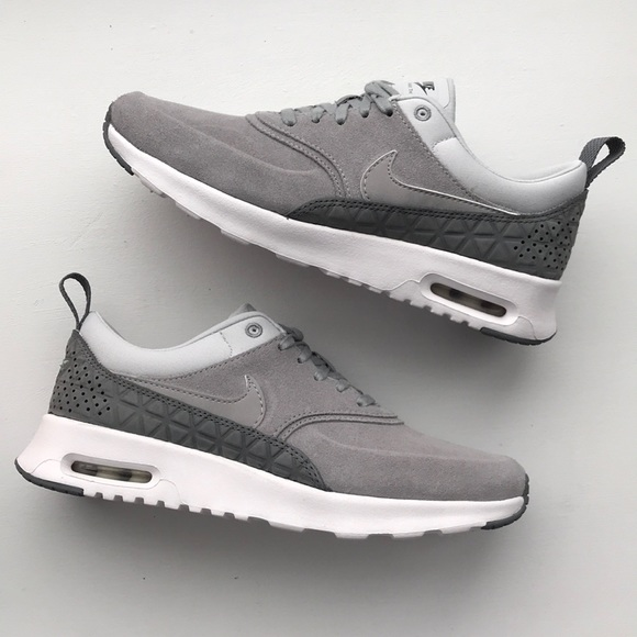 Nike Shoes | Air Max Thea Premium Leather Suede Sneakers